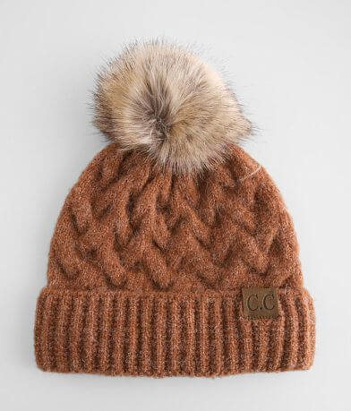 C.C® Cable Knit Pom Beanie