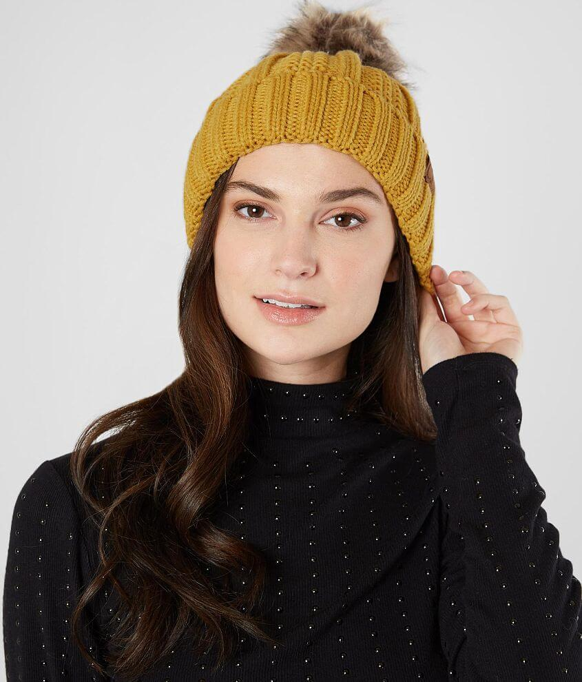 C.C Cable Knit Beanie front view