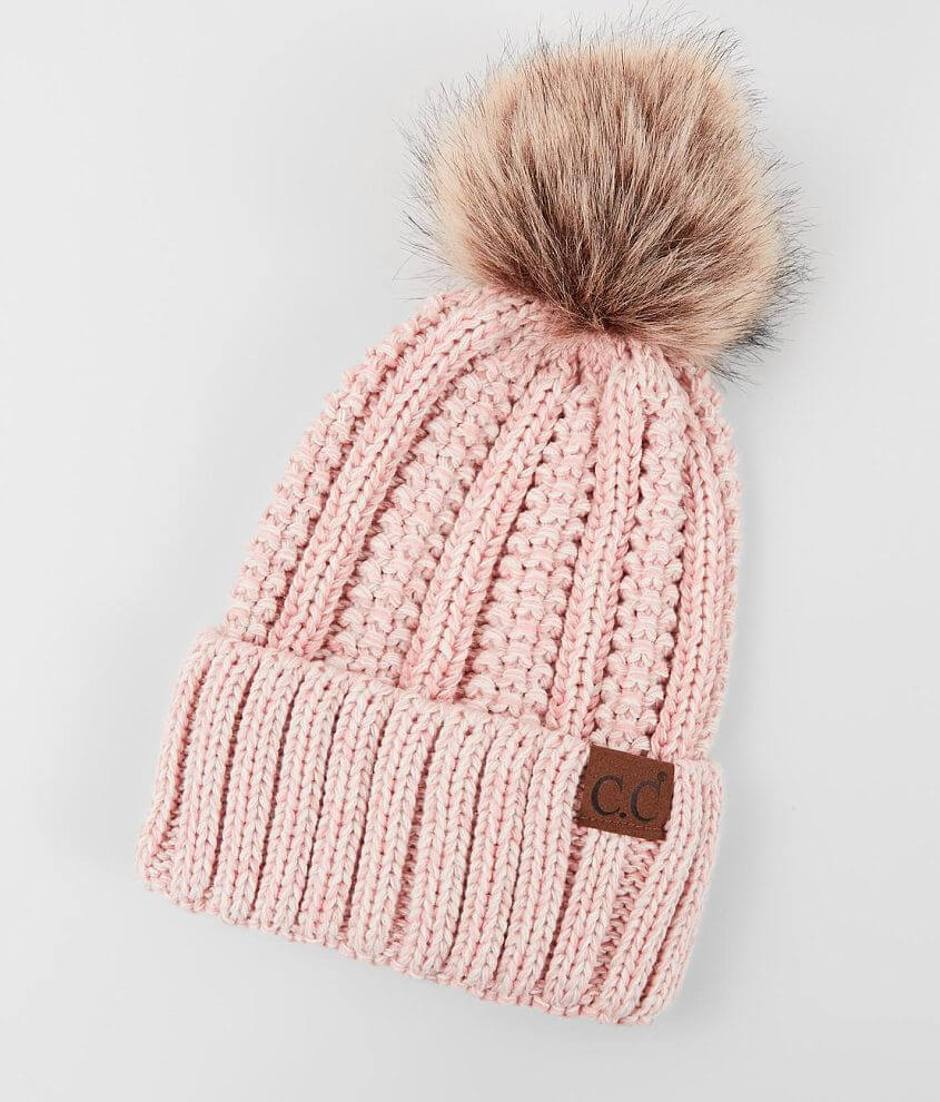 C.C® Wide Ribbed Beanie front view