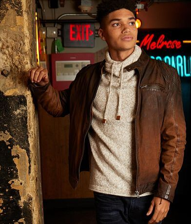Outpost Makers Arne Distressed Leather Jacket