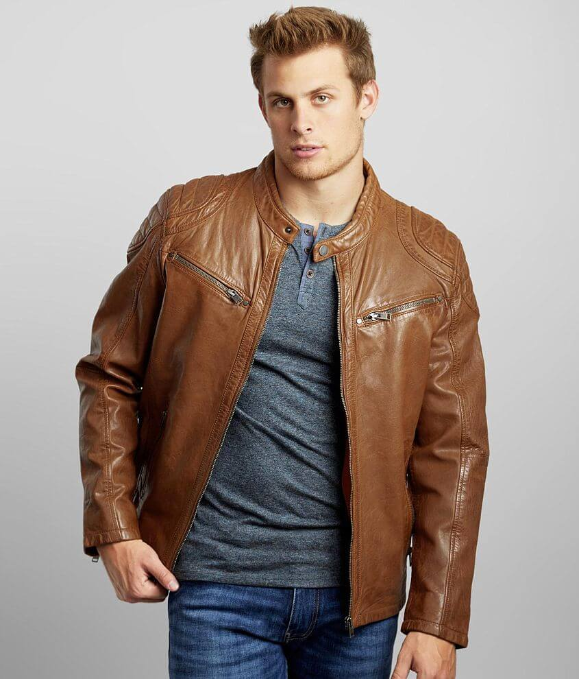 Outpost Makers Arne Leather Jacket front view