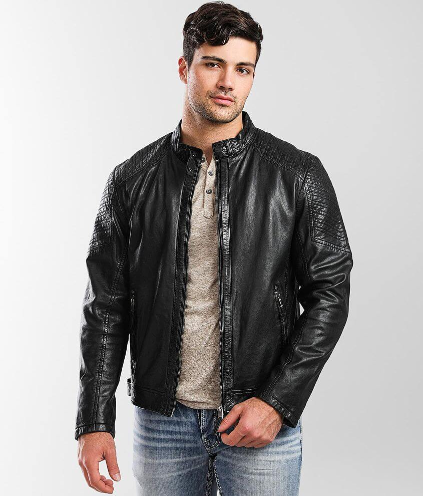 Outpost Makers Damion Leather Jacket front view