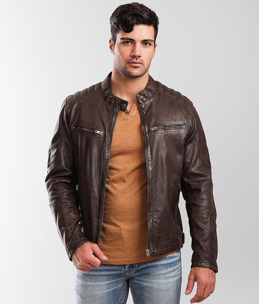 Outpost Makers Leather Jacket front view