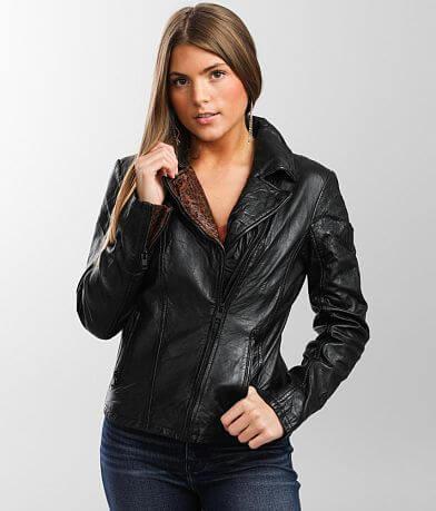 Mauritius Lany Leather Moto Jacket