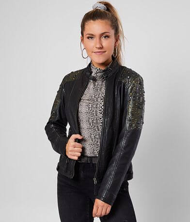 Mauritius Priya Studded Leather Jacket