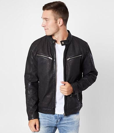 Outpost Makers Rico Distressed Leather Jacket