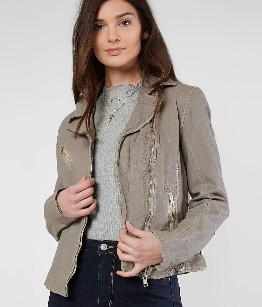 Style SOFIARF/Skus 703795, 703796 Distressed asymmetrical zip front lined jacket Interior zipper pocket 5\\\