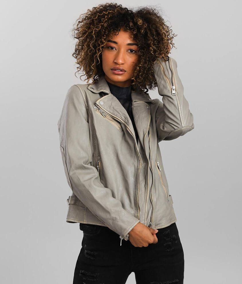 Mauritius Sofia Distressed Leather Jacket front view