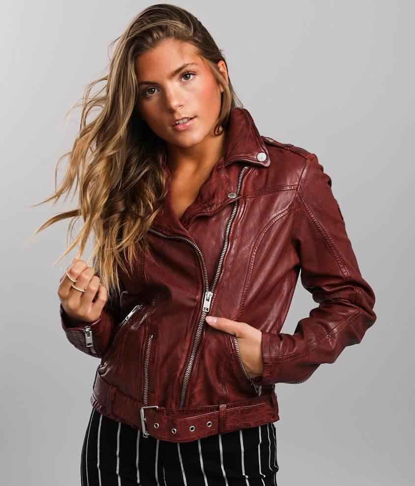 Mauritius Wild Leather Moto Jacket front view