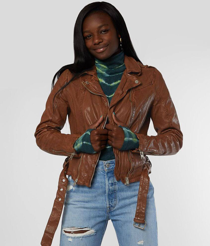 Mauritius Wild Leather Jacket front view