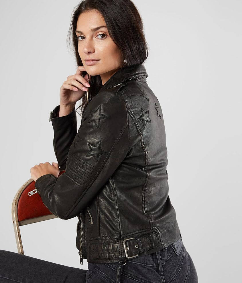 Mauritius Won Leather Jacket front view