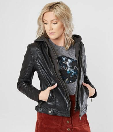Mauritius Hooded Leather Jacket