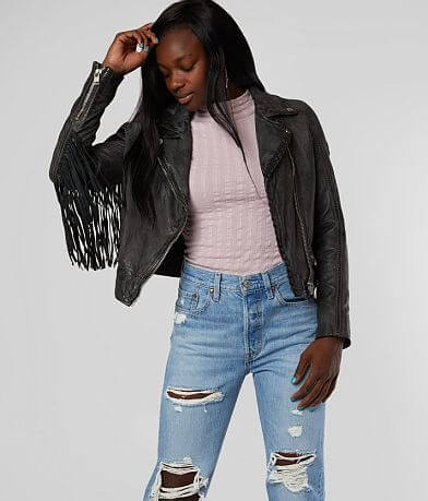 Mauritius Zoe Cropped Leather Jacket