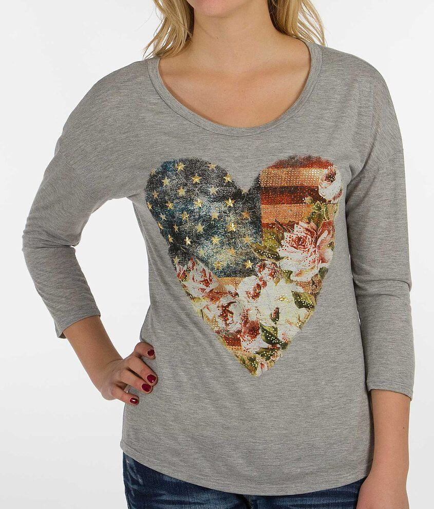 Daytrip Americana Heart Top front view