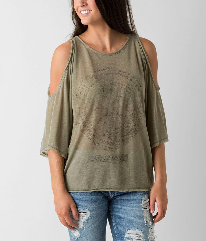 The Classic Cold Shoulder Top front view