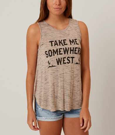 twine & stark Take Me Somewhere West Tank Top