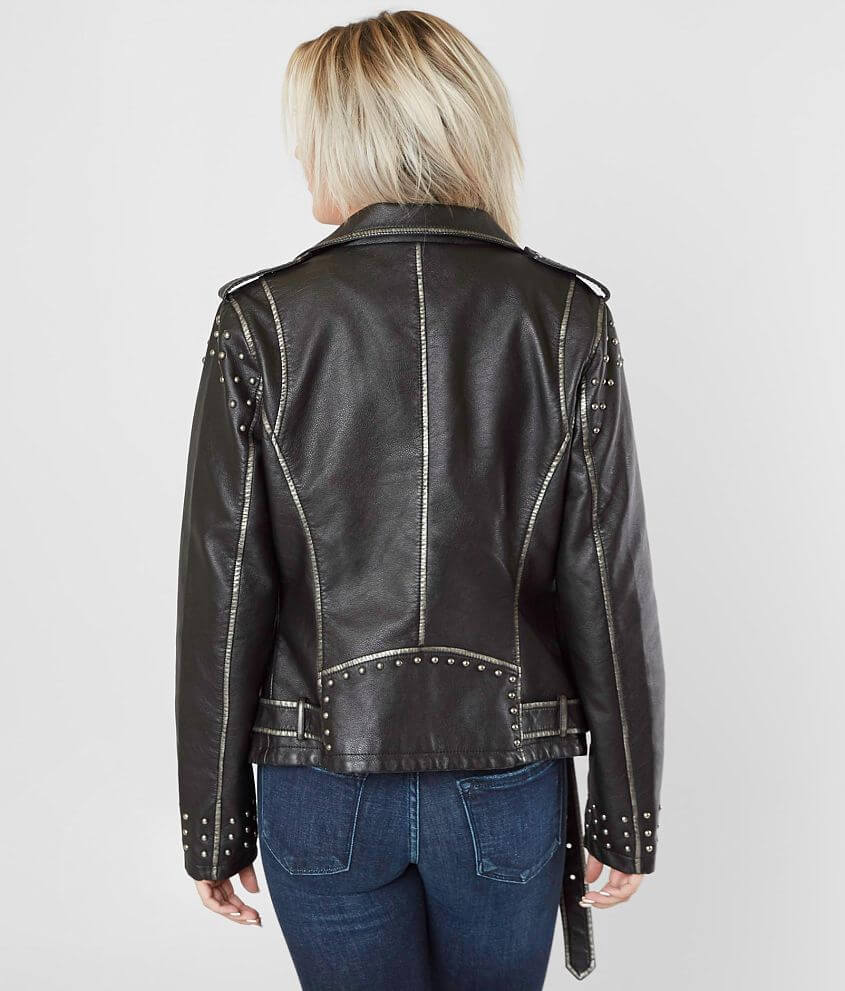 Coalition LA Studded Moto Jacket Women's CoatsJackets in