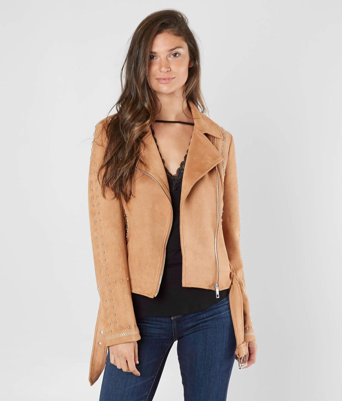 3d25c23994b BKE Faux Suede Moto Jacket - Women's Coats/Jackets in Camel | Buckle