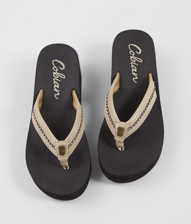 819c39112 Cobian® Tiffany II Mid-Wedge Flip - Women s Shoes in Gold