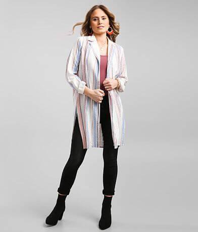 Daytrip Striped Shacket Kimono