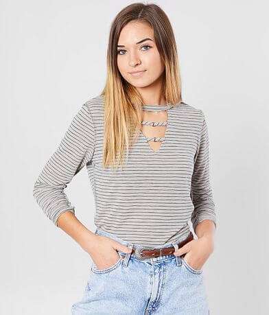 FITZ + EDDI Lattice Striped Top