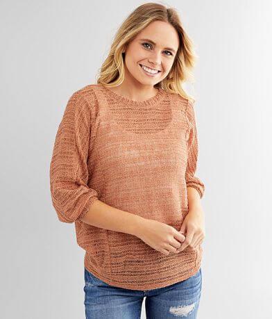 Daytrip Open Weave Metallic Pullover