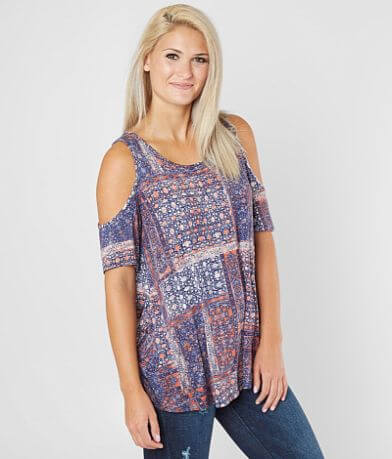 Daytrip Lace-Up Cold Shoulder Top