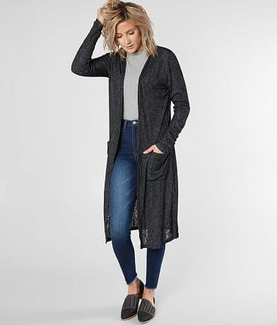 Daytrip Ribbed Maxi Cardigan