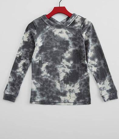 Girls - Daytrip Tie Dye Waffle Knit Top