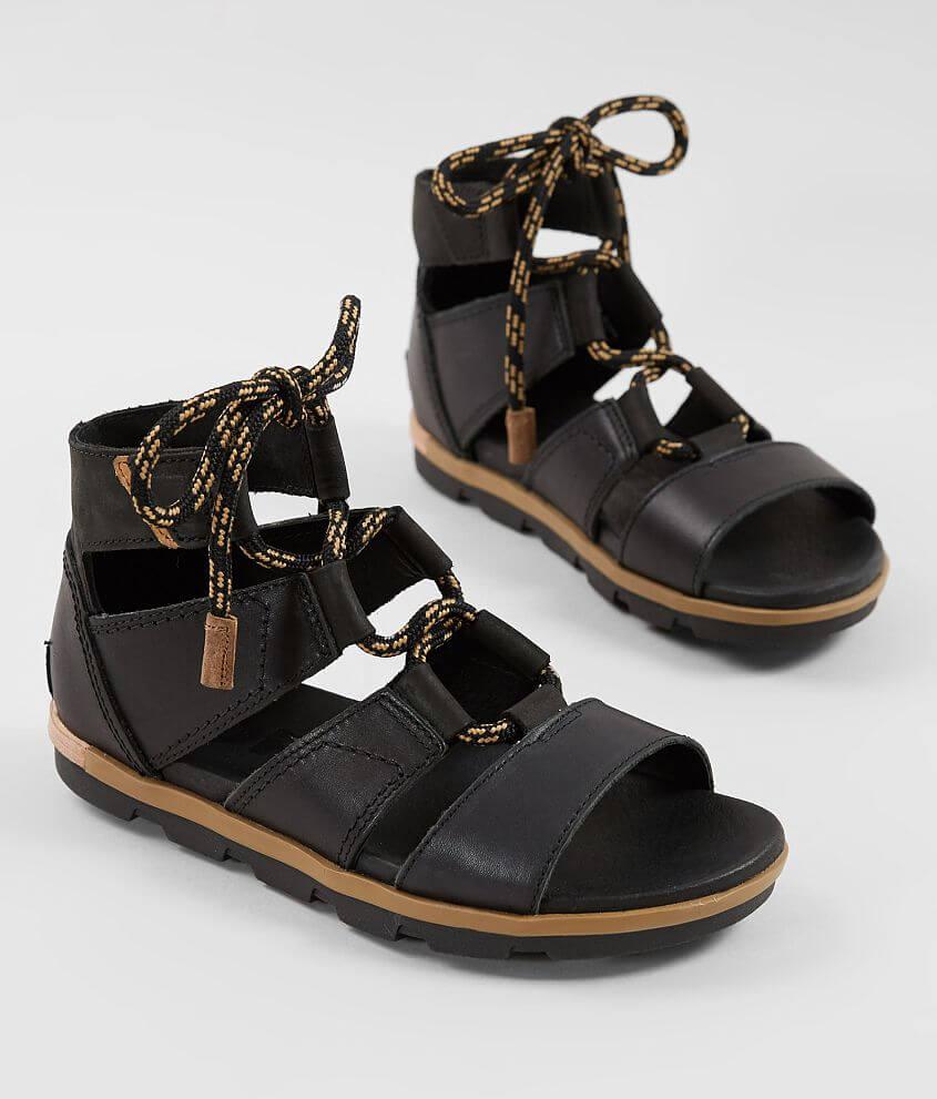 d89a7e22d57 Sorel Torpeda™ Leather Sandal - Women s Shoes in Black