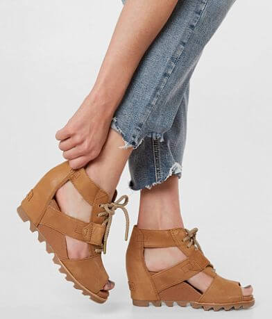 Sorel Joanie™ Leather Wedge Sandal