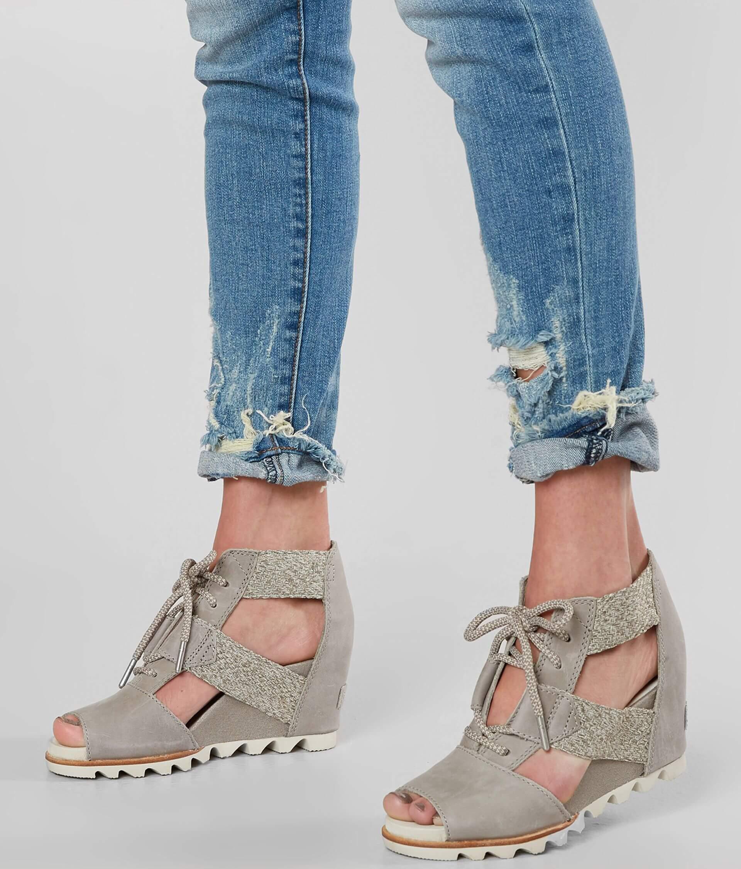 b00585ce1168 Sorel Joanie™ Leather Wedge Sandal - Women s Shoes in Kettle