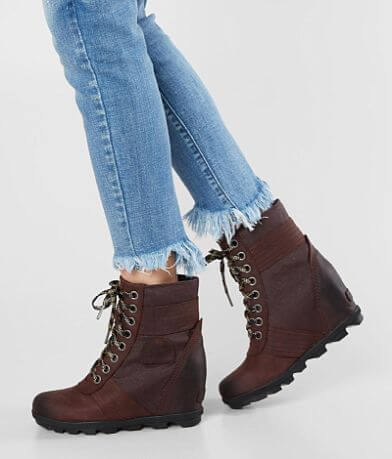 Sorel Lexie™ Leather Wedge Boot