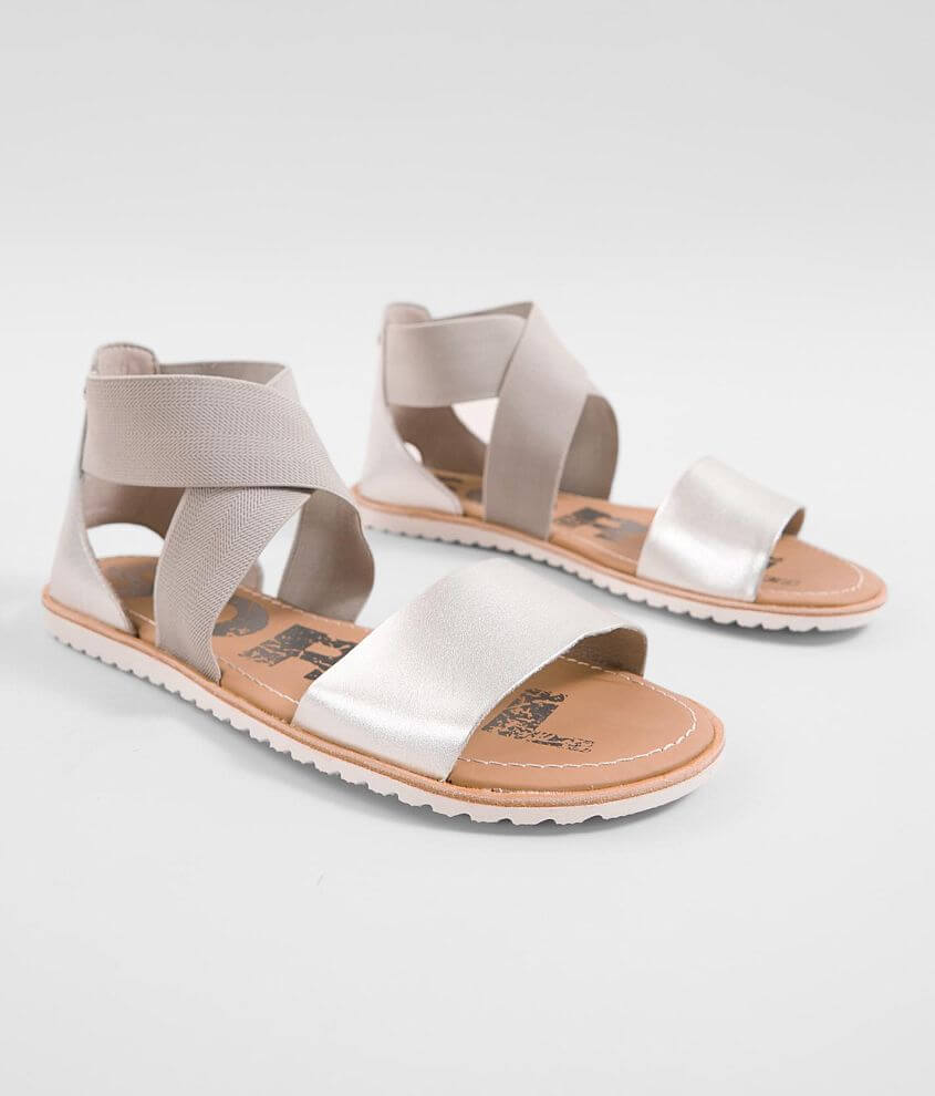 29e323d9c Sorel Ella™ Metallic Leather Sandal - Women s Shoes in Pure Silver ...