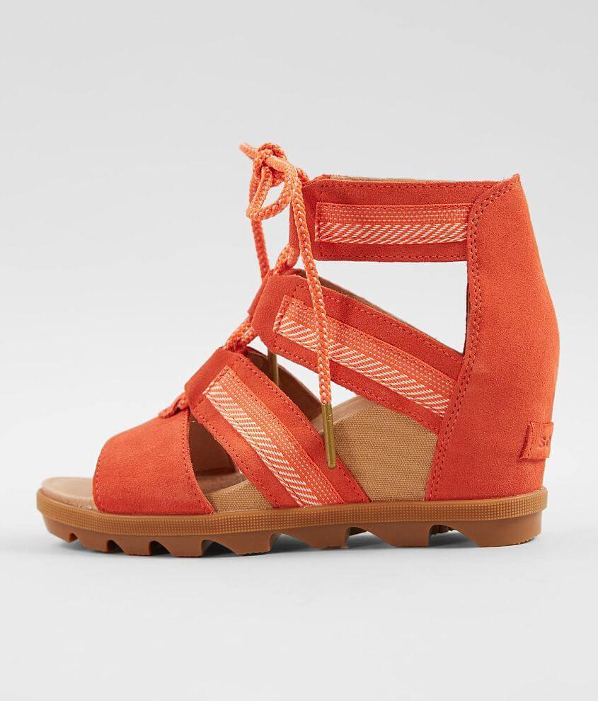 64f4950a096e Sorel Joanie™ II Leather Wedge Sandal - Women s Shoes in Zing