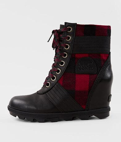 Sorel Lexie™ Leather Plaid Wedge Boot