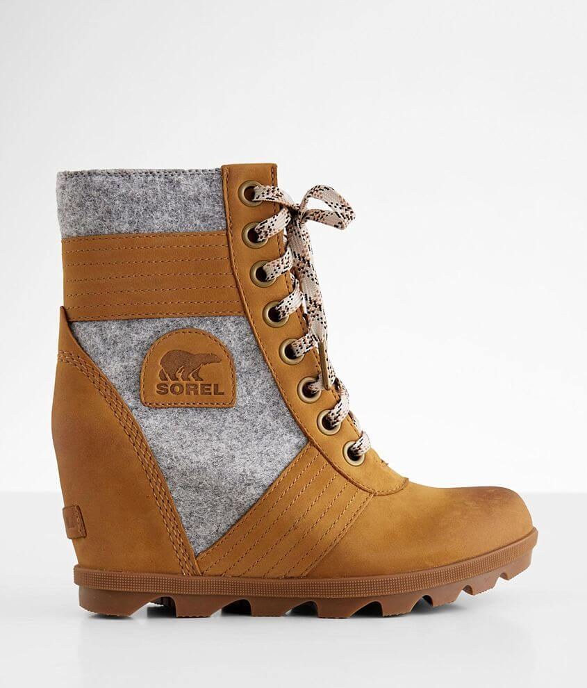 Sorel Lexie™ Waterproof Leather Wedge Boot front view