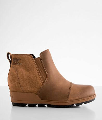 Sorel Evie™ Leather Wedge Ankle Boot