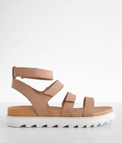 Sorel Roaming™ Flatform Leather Sandal
