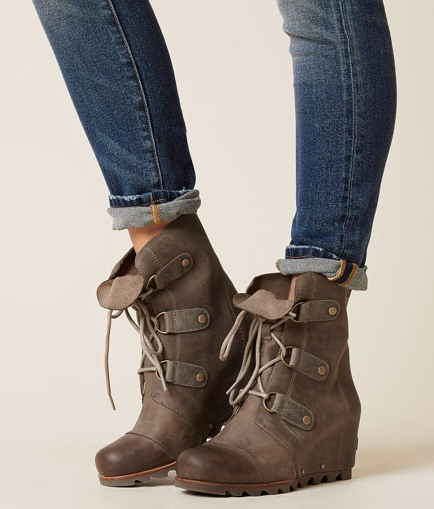 65adf5e3310 Sorel Joan of Arctic™ Leather Wedge Boot - Women s Shoes in Kettle ...
