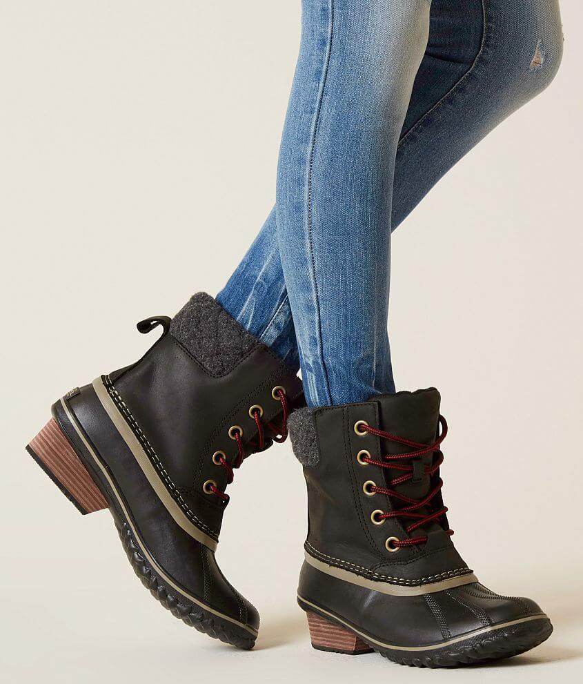 01d8a902cb79 Sorel Slimpack™ II Waterproof Leather Boot - Women s Shoes in Black ...