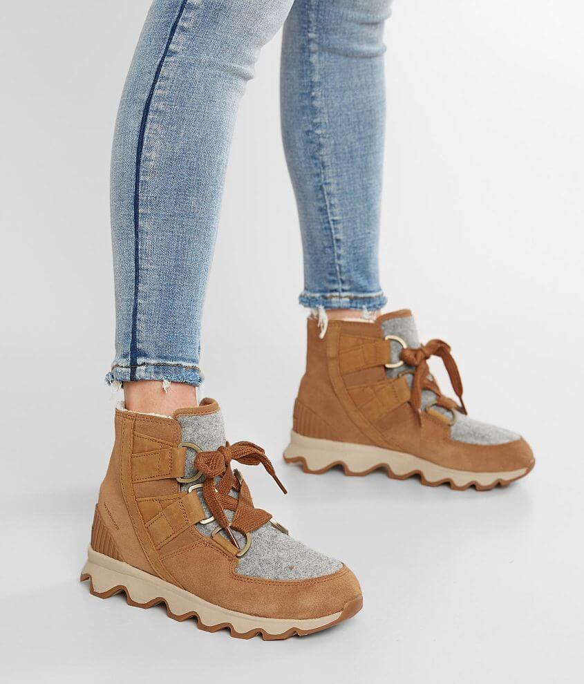 7639b8913097a Sorel Kinetic™ Leather Boot - Women's Shoes in Camel Brown Natural ...