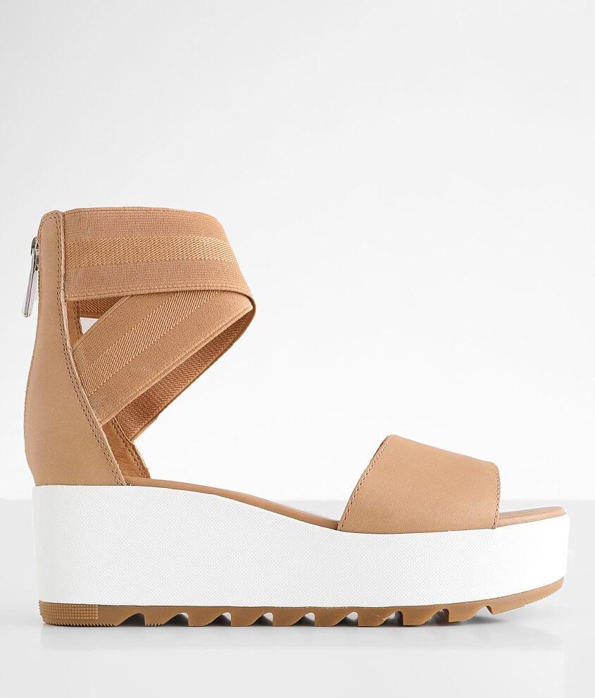 Sorel Cameron™ Flatform Leather Sandal front view