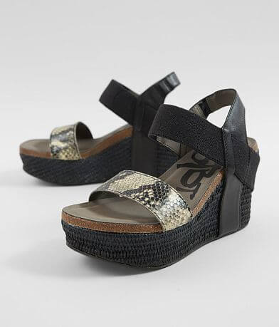 OTBT Bushnell Leather Wedge Sandal