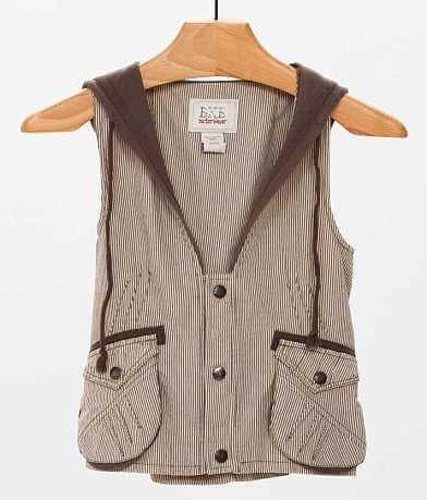 BKE Pinstripe Cropped Vest