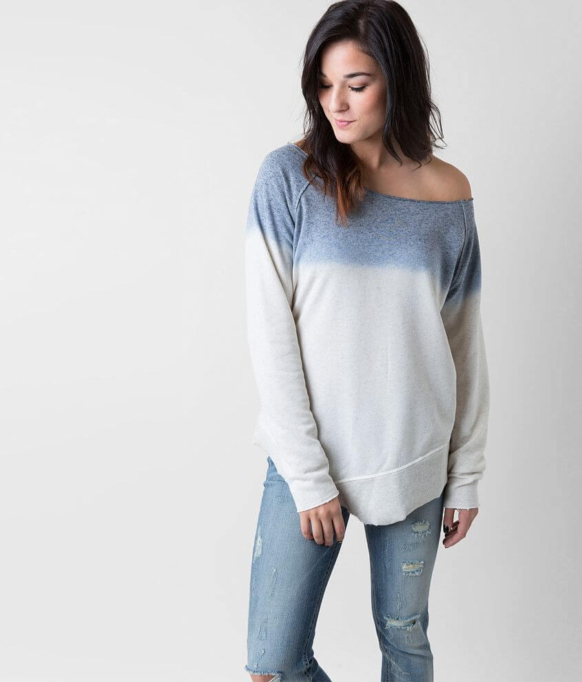 Gilded Intent Raw Edge Sweatshirt front view