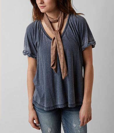 Faux Suede Skinny Scarf