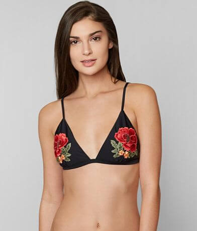 South Beach Embroidered Swimwear Top