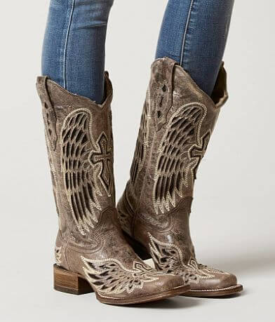 Corral Wing & Cross Leather Western Boot