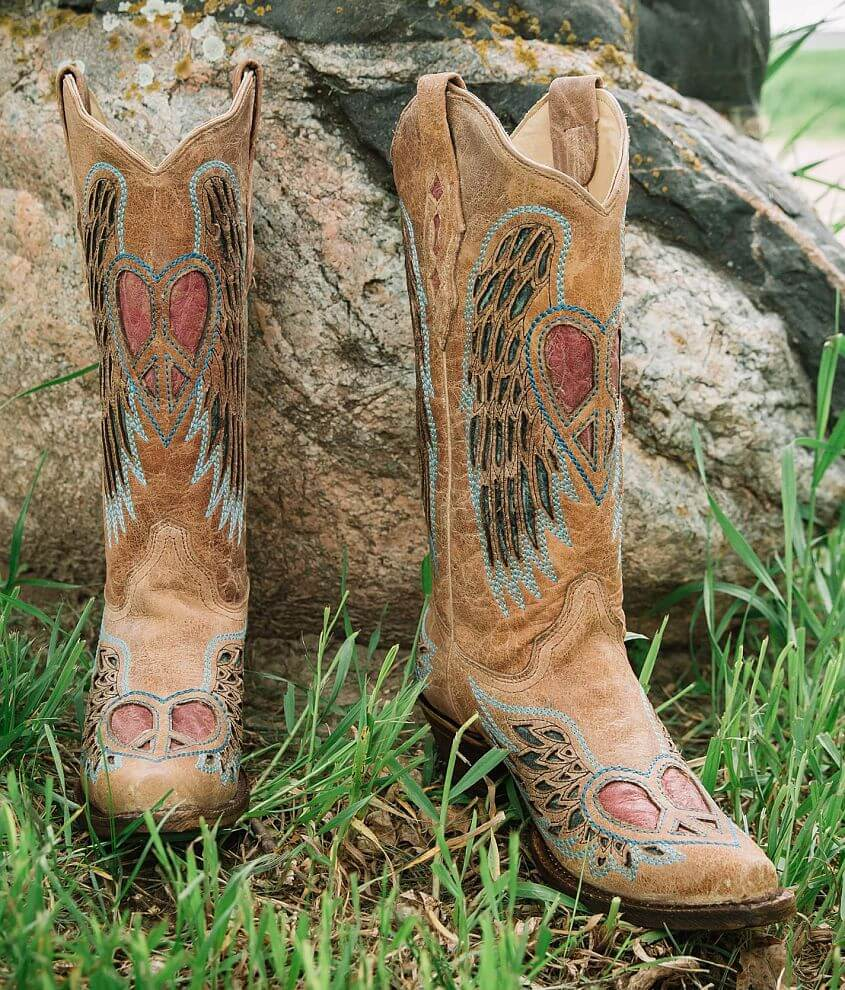 Corral Heart Wings Leather Western Boot front view